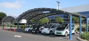 Mitsubishi Unveils Solar-Powered Vehicle Charging Station