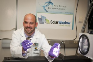 New Energy Technology's Spray-On Solar Cells Applied on Flexible Plastic Material