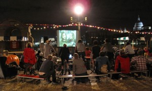 Pedal power at open-air cycle-in cinemas