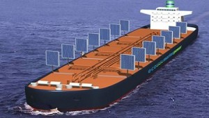 Solar Panels Act As Sails for Shipping Vessels