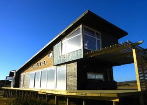 Beautiful Solar-Powered Y-House Perches on Stilts Overlooking the Chilean Coast