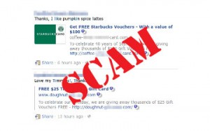 Warning Facebook Free Starbucks and Tim Horton's is a Scam