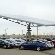 Envision Solar Creates a Tracking Solar Tree for General Motors