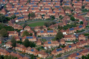 Mass solar panel installation on Nottingham social housing – big picture