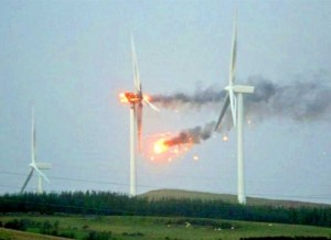 Wind Turbine in Scotland Bursts Into Flames During Hurricane Force Winds