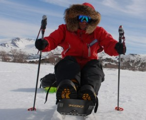 Solar Panels & Heated Socks Aid First Adaptive Athlete To Ski To the South Pole