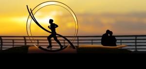 Human Hampster Wheel for Energy