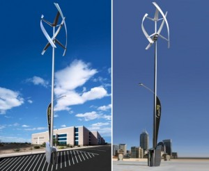 The New Sanya Skypump is a Wind and Solar-Powered Electric Vehicle Charger!