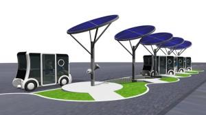 Cristal Station A solar powered parking area for Cristal EVs