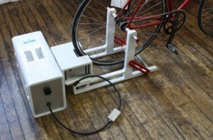 How does a bicycle powered generator work