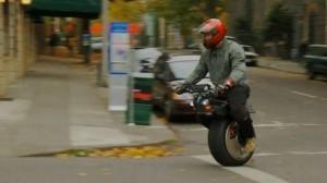 Ryno Motors self-balancing, single-wheeled scooter test ride