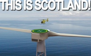 Wind Turbine Big Enough To Land A Helicopter On Scotland Has It Covered