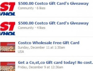 Costo Gift Card Scam On Facebook