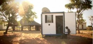 Shipping Containers Become Solar-Powered Internet Hubs in Rural