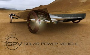 Solar Powered Vehicle for a green ride in deserts